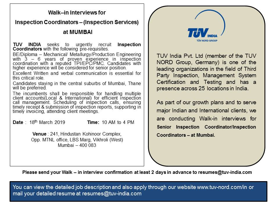 Career with us | TUV India