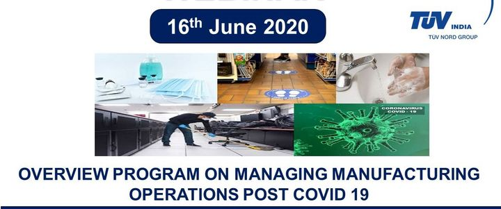 Overview Program on Managing Manufacturing Operations Post COVID 19