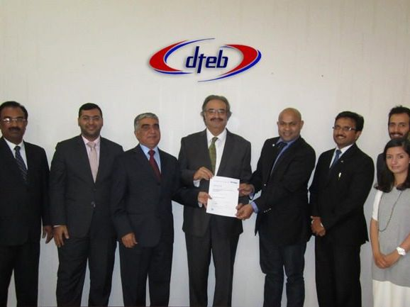 Certificate Handover to DTEB, Bahrain